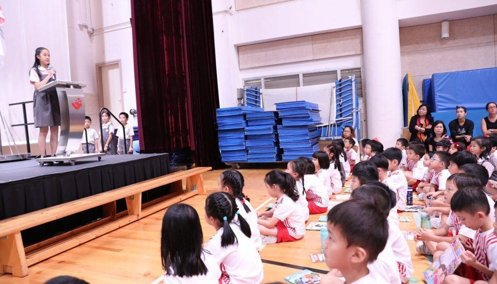 Pic 05_ Vice-Head Prefect, Ellisha Yao, giving her speech